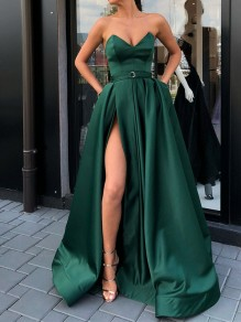 A-Line Long Prom Dresses Formal Evening Gowns with Pockets 99501841