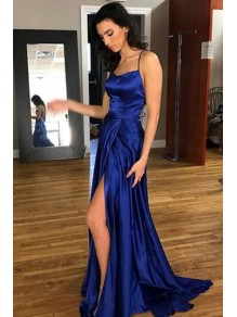 Long Royal Blue Backless Prom Dresses Evening Gowns 996021595