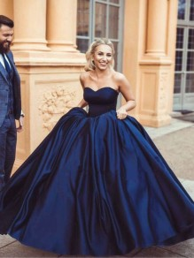 Ball Gown Sweetheart Long Blue Prom Dresses Formal Evening Dresses 996021612