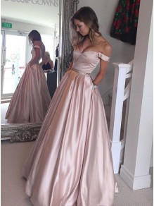 Ball Gown Off-the-Shoulder Beaded Prom Dresses Party Evening Gowns 99602250