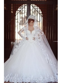 Ball Gown Long Sleeves Lace Wedding Dresses Bridal Gowns 99603328