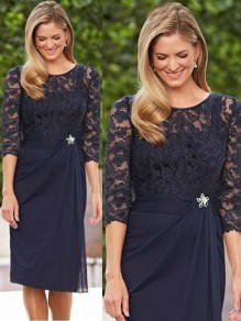 Elegant Lace Chiffon Mother of The Bride and Groom Dresses 99605054