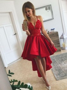 High Low Lace Prom Dress Homecoming Graduation Cocktail Dresses 99701107