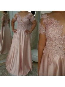 A-Line Beaded Lace Appliques Long Mother of the Bride Dresses 99702057