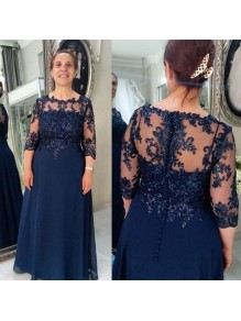 A-Line Beaded Lace Long Mother of the Bride Dresses 99702091